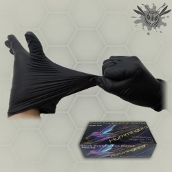 Black Nitriel Power Free Tattoo Gloves
