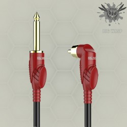 BIG WASP Right Angle Tattoo RCA Cord